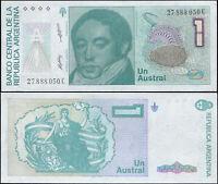 Argentinien 1 Austral. UNZ ND (1985-89) Banknote Kat# P.323b