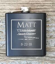 Personalized Groomsmen Humor Flask Engraved Bachelor Party Gift Groomsman