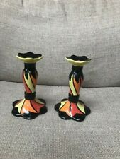 A pair of Lorna Bailey 'Chetwynd' Old Elgreave candlesticks