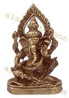 Mini Ganesh elephant god brass miniature Ganapati hindu Laiton mini Ganesh