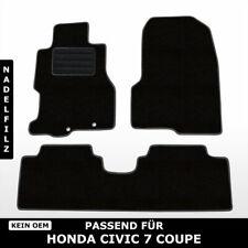 Fußmatten Passend für Honda Civic 7 Coupe (2001-2005) - Schwarz Nadelfilz 3tlg