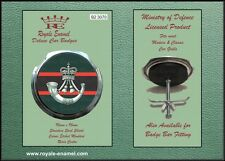 Royale Classic Modern Car Grill Badge + Fittings - THE RIFLES REGIMENT - B2.3070