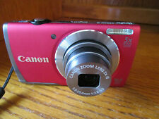 Canon PowerShot  A3500 Red 16.0MP WiFi Digital Camera Battery Charger SD Card