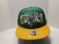 47 Brand Boston Celtics NBA Hardwood Classics Snapback Hat Cap Green Yellow
