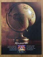 Hasbro RISK Board Game 2000 Vintage Print Ad/Poster Promo Official Funny! Rare