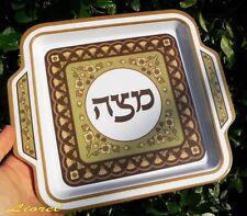 Passover Pesach Matzah Plate Melanin Matzo Tray Kosher Seder Hebrew Judaica Gift