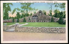 WORCESTER MA Assumption College Grotto Grotte Vtg PC Postcard