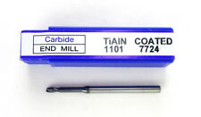 """KOREA IMPORT End Mill 3/32"""" 2 Flute Solid Carbide TiAlN Coated 1101 7724 H34"""