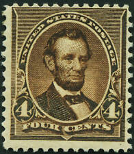 Us 1890 #222 4c Lincoln Unused Nh