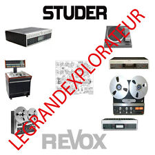 Ultimate STUDER  REVOX  Schematics, Repair Service & Owner Manuals  PDF Manual s