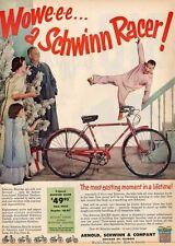 1955 Schwinn Racer 3-speed Bike PRINT AD