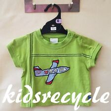LITTLE PUMPKINS Baby BOYS Top T-SHIRT Tee KIDS Size 0 (VGC) aeroplane applique