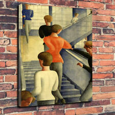 "Escalera Oskar Schlemmer Bauhaus Arte Lona Impresa Foto A1.30""x20""-30mm de profundidad"