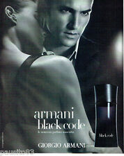 PUBLICITE ADVERTISING 056  2004   Giorgio Armani parfum masculin Black Code
