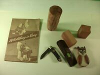 Lot of 1960's Cub Scout Pocket Knife with Booklet and Whittling Accessories