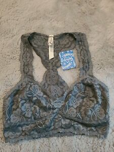 Free People Lace Galloon Racerback Bra Ballet Sz. Extra Small NWT