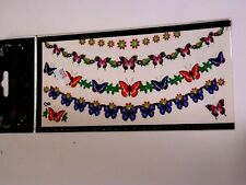 Blue Red Butterflies Temporary Tattoo Costume Accessory Halloween Decoration