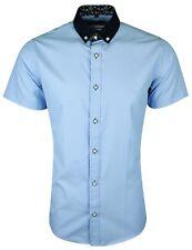 Dominic Stefano Mens Short Sleeves Textured Shirt Dress Smart Casual £15.99(412)