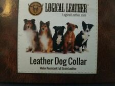 Logical Leather Dog Collar - Size: M