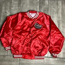 RARE Vintage Elvis in Concert Red Satin Jacket w/ Patches Mens 2XL EUC