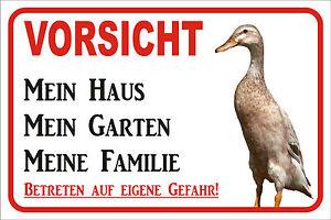 Schild S0437 * Indische Laufente * Mein Haus 15x20 oder 40x60cm Tor Ente