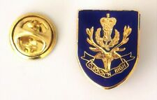 Queens Own Highlanders Shield Military MOD Licensed lapel pin badge