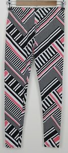 NO BOUNDARIES Small Women's Leggings White w/ Multicolor Geometric Print