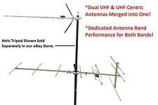 Indoor Outdoor VHF & UHF HD TV Antenna System - Includes VHF/UHF Combiner