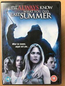 I'Ll Always Know Qué You DID Last Verano DVD 3 2006 Slasher Terror Cine Secuela
