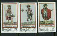 French Polynesia 1983 Costumes  Imperforate  Set MNH X653