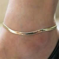 Ladies Ankle Bracelet Foot Jewelry Simple Chain Charm Beach Vacation Boho Anklet