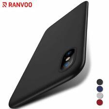 For iPhone X Case Anti-Scratch Matte Hard Back Ultra Thin Slim Fit Black Cover