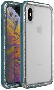 LifeProof NEXT Drop Proof Case for iPhone Xs & iPhone X Clear Lake Easy Open Box