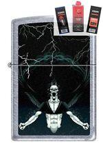 Zippo 7216 gothic demon Lighter + FUEL FLINT & WICK GIFT SET