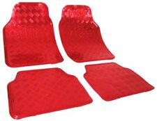 Universal Auto Fußmatten Matten ALU LOOK Riffelblech Rot 7103