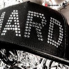 Red Monkey Crystal HARD Snap Back Flat Brim Cap Hat Black RMLR1004