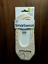Smartwool No Show Wool Socks Internal Gripper Men's Large Natural Heather- NEW
