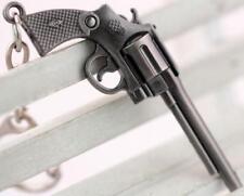 Revolver pistol Weapon Mini Gun Model Metal Keyring Keychain Key Ring Chain ^