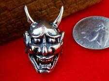 Japanese Devil Mask Wallet Snap, Concho, Leather Craft, for Wallets