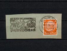 (YYAE 056) Germany 1939 Berlin Slogan Cancel propaganda advertising Reich