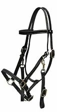 BLACK Leather Horse Halter Bridle Combination with Reins! NEW HORSE TACK!