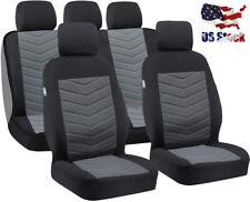 Full Set Car Seat Covers,5-Seats Flat Cloth Fabric Truck Car Seat Protector