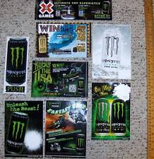 LOT OF 8 MONSTER ENERGY STICKERS~NEW~ALL DIFFERENT THEMES