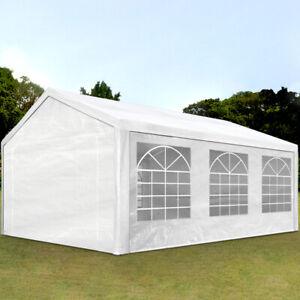 Partyzelt 4x6m Pavillon Festzelt Bierzelt Gartenzelt Vereinszelt Markt Zelt weiß
