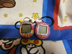 Lot of 2 2004 TAMAGOTCHI Connection Keychains RARE WORKING