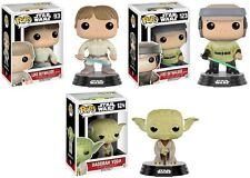 STAR WARS Dagobah Yoda, Luke Skywalker Endor + Bespin - 3 Figuren - Funko Pop!