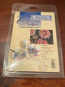 Silk Painting Scarf Kit, Philip & Tacey. Paints, Brush, Scarf, Palette. Pipettes