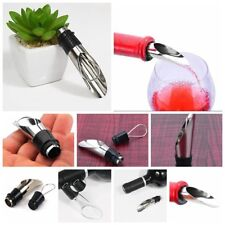 Stainles Steel Liquor Spirit Pourer Free Flow Wine Bottle Pour Spout Stopper 2pc