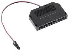 12V MINI-AMP - 6-Fach Verteiler Anschlussadapter 0,15m Kabel mit Stecker schwarz