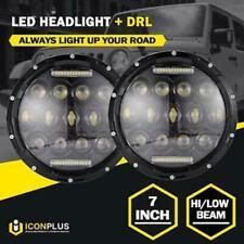 """2x 7"""" 200W LED Headlight Hi/Low DRL Beam For Hummer Nissan Mazda Miata MX5 90-97"""